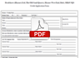 Account Application Form Screenshot (download as PDF)